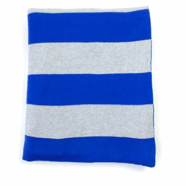 Rugby Stripe Cotton Throw by Darzzi