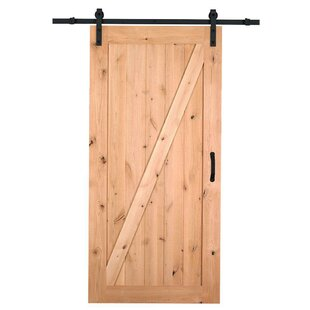Elegant Farm Style Solid Wood Panelled Wood Prehung Interior Barn Door Kit