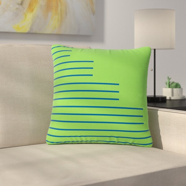 Trebam Stepenice V.3 Pattern Outdoor Throw Pillow by East Urban Home