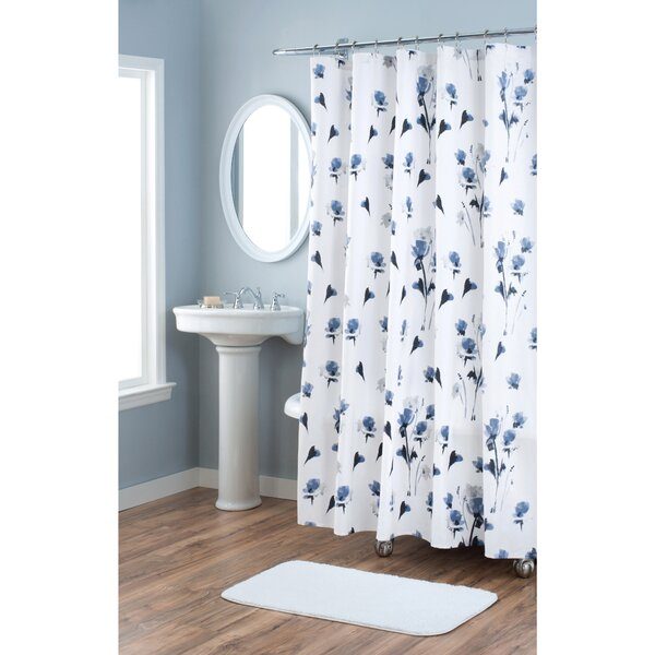 Le Fleur Cotton Shower Curtain by Nicole Miller