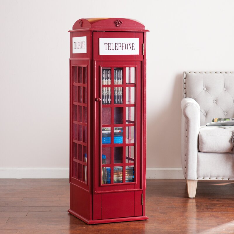 Bon Rodriques Phone Booth Storage Accent Cabinet