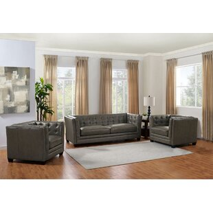 Dierking 3 Piece Leather Living Room Set by 17 Stories