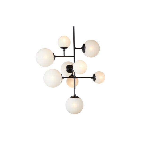 Niles 9 - Light Sputnik Geometric Chandelier by Corrigan Studio Corrigan Studio