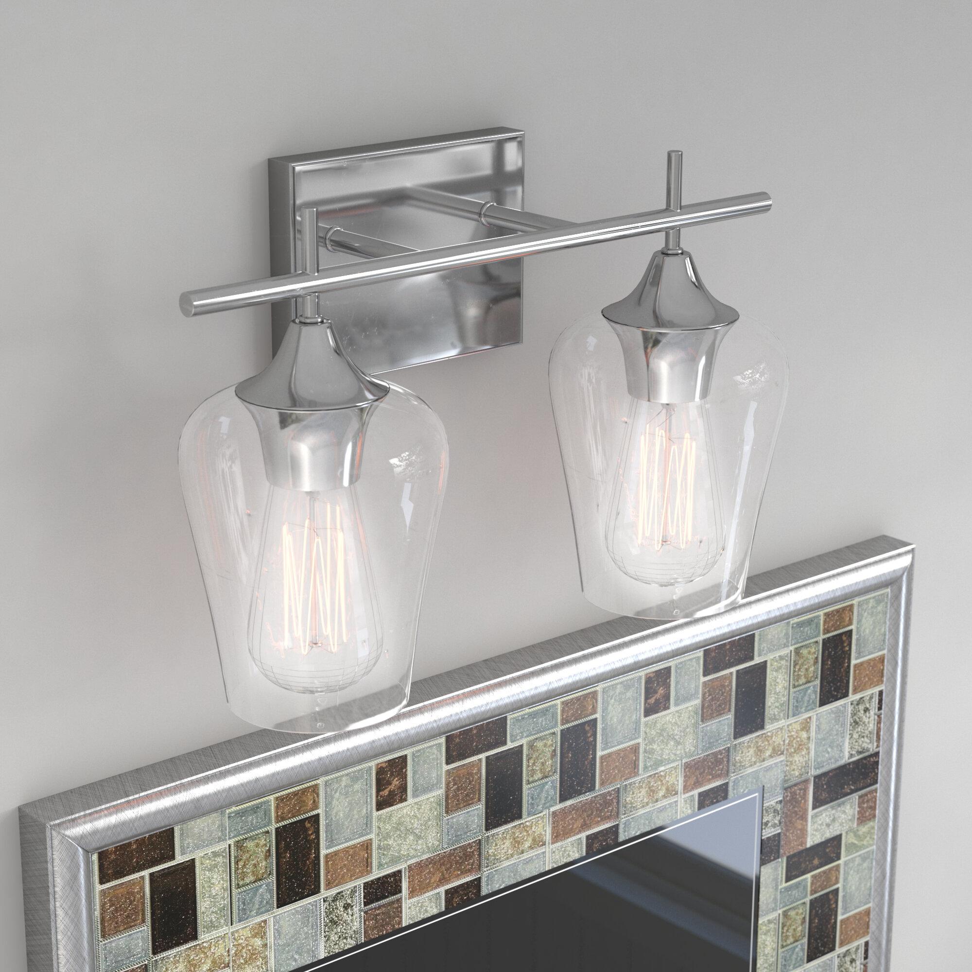 Bathroom Lighting Showroom In Ma: Zipcode Design Staci 2-Light Vanity Light & Reviews