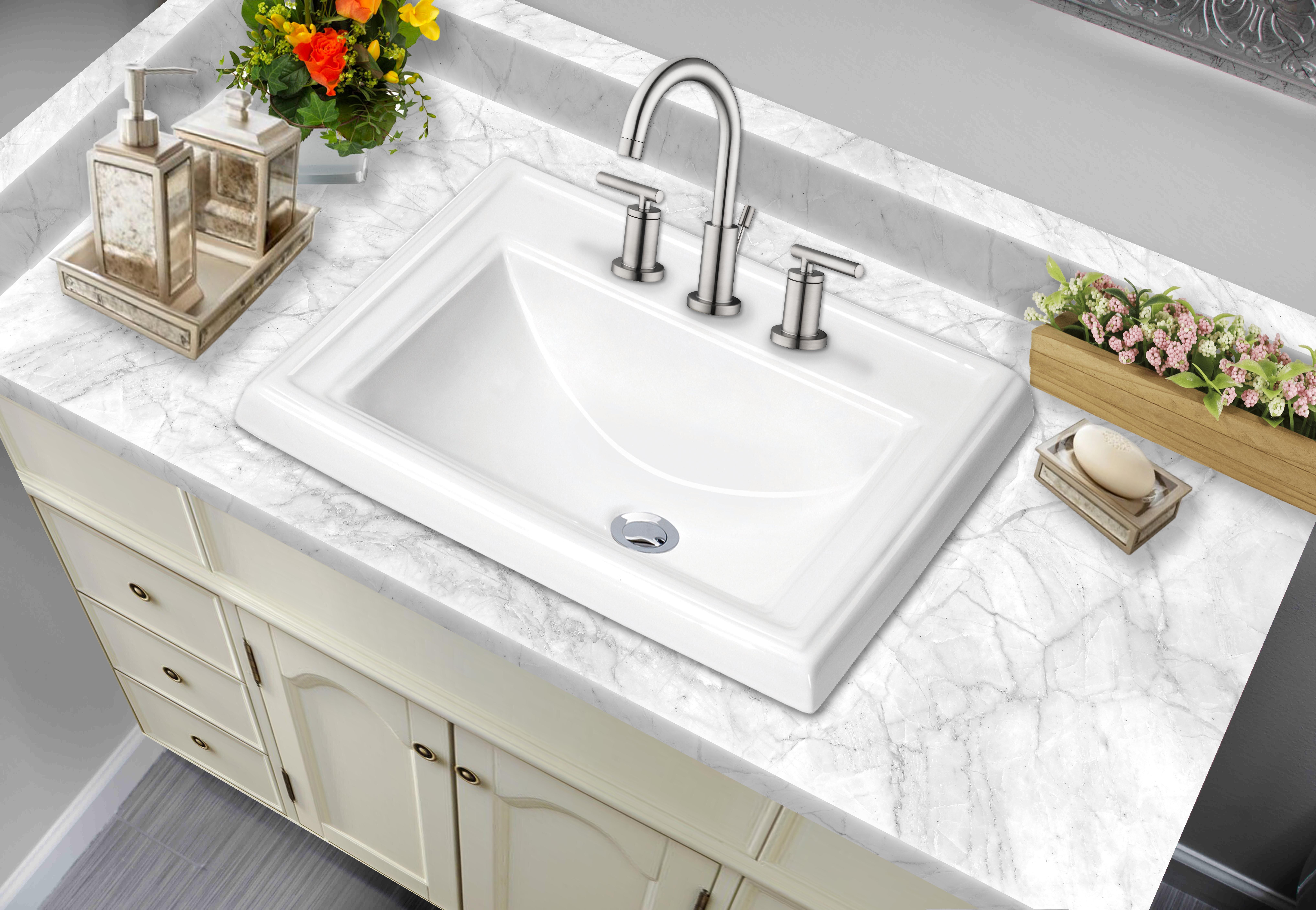 Rectangular Drop In Bathroom Sink