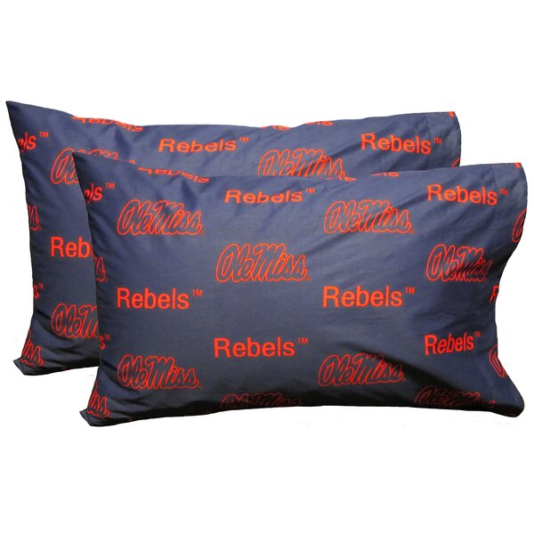 NCAA Ole Miss Pillowcase (Set of 2) by College Covers