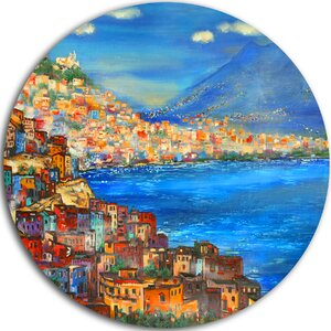 'Naples Today' Painting Print on Metal by Design Art