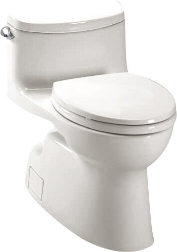 Carolina High Efficiency 1.28 GPF Elongated One-Piece Toilet by Toto