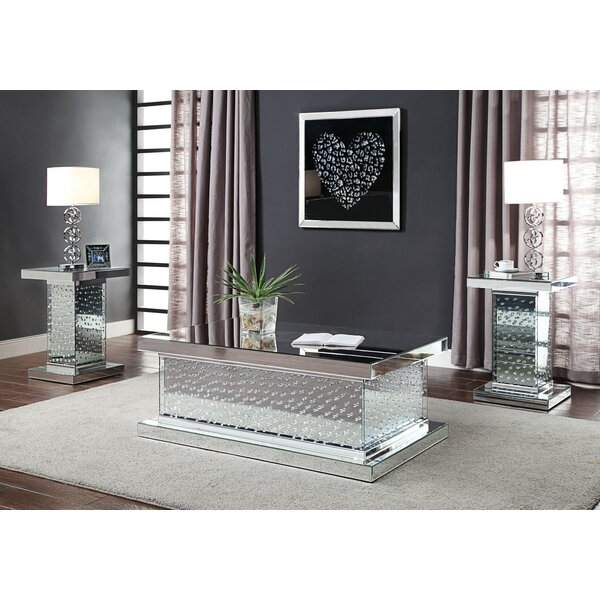 Bussard 3 Piece Coffee Table Set By Everly Quinn