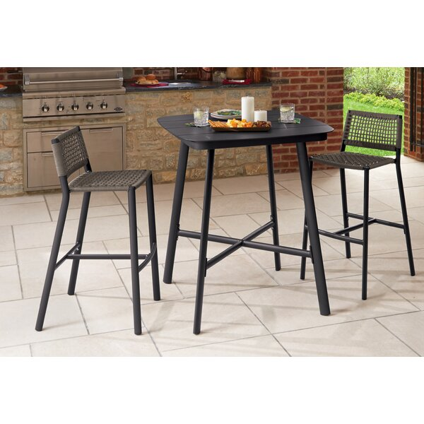 Keely Eiland 3 Piece Bar Height Dining Set by Bayou Breeze