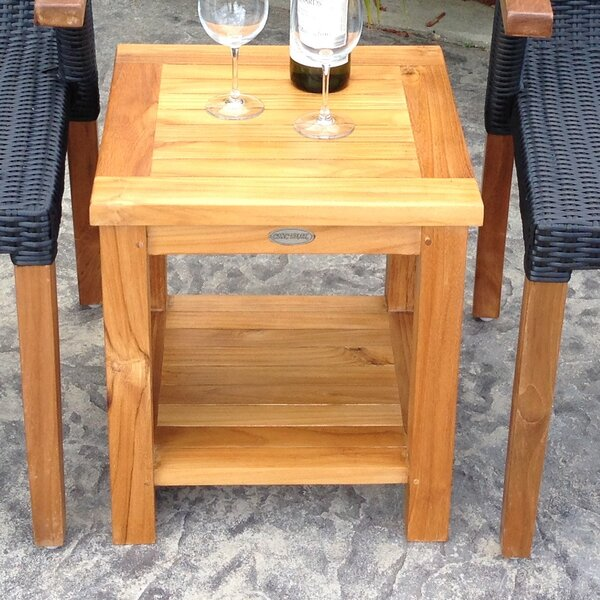 Tundra Solid Wood Side Table by Chic Teak