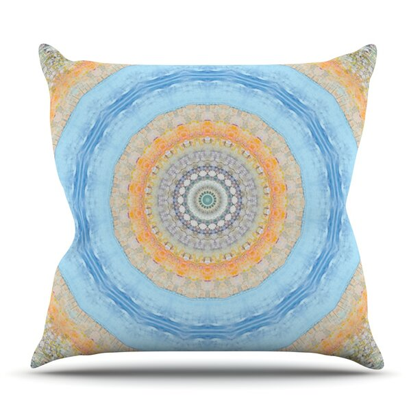 Summer Mandala by Iris Lehnhardt Outdoor Throw Pillow by East Urban Home