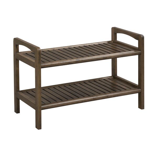 Hales Wood Storage Bench by Breakwater Bay