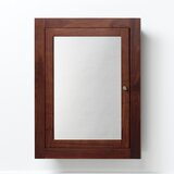 Raine 24.41 x 32.44 Recessed Framed Medicine Cabinet with 2 Adjustable Shelves byRonbow