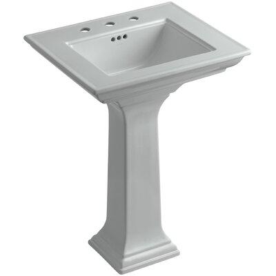 Pedestal Sink Ceramic Overflow Sink Faucet Mount