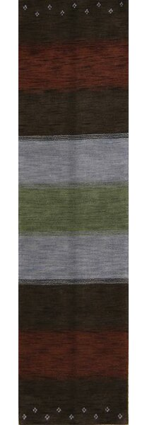 Seidman Oriental Hand-Knotted Wool Brown Area Rug by Bloomsbury Market