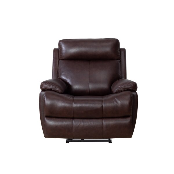 Jorge Leather Power Recliner [Red Barrel Studio]