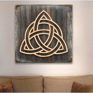 Spiral Symbol Celtic Wooden Block Wall Decor