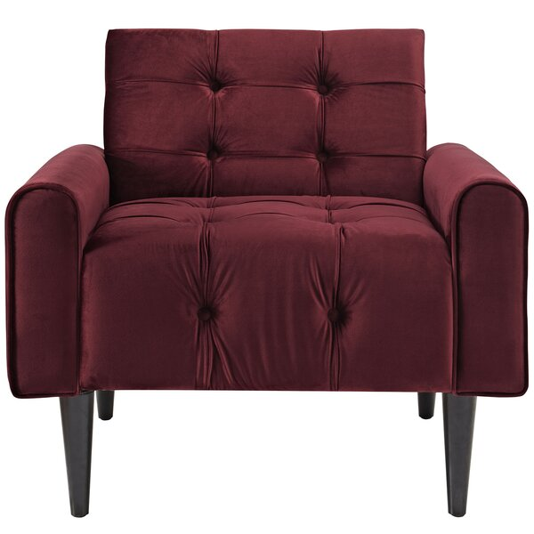 Perry Velvet Armchair by Zipcode Design Zipcode Design
