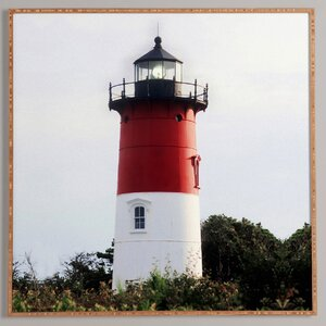 Nauset Beach Lighthouse No 3 Framed Photographic Print by East Urban Home