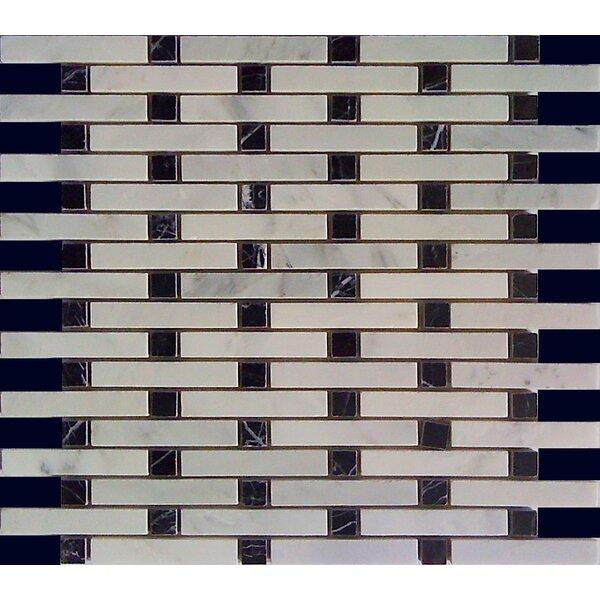 0.6 x 4 Marble Mosaic Pattern Wall & Floor Tile