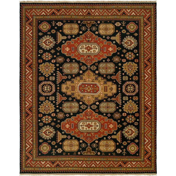 Granat Wool Navy/Rust Area Rug by Bloomsbury Market