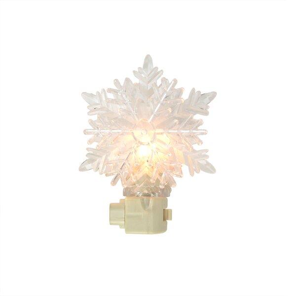 Snowy Winter Decorative Snowflake Christmas Night Light by Sienna Lighting
