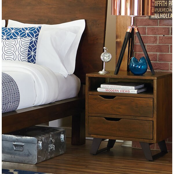 Allison 2 Drawer Nightstand by Union Rustic