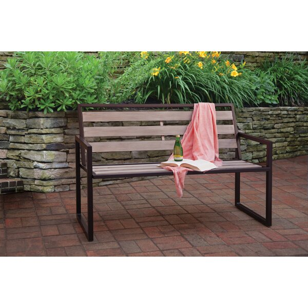 Montgomery Steel Garden Bench by Liberty Garden Patio