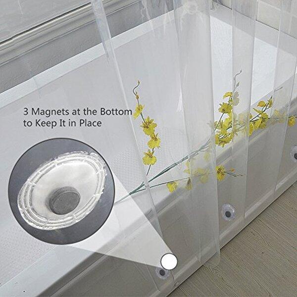 Waterproof Vinyl Shower Curtain (Set of 4) by Symple Stuff
