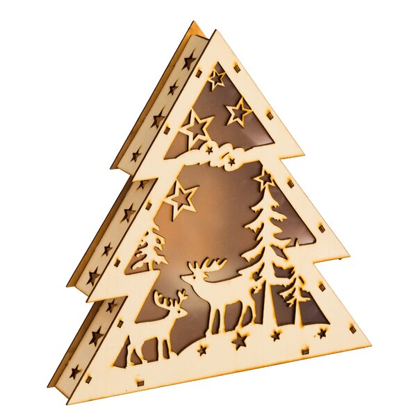 Forest Scene LED Decor Wood Luminary by August Grove