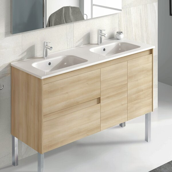 schuyler 48 single bathroom vanity set by astoria grand 48 Double Bathroom Vanity Grey Ski Bathroom Vanity
