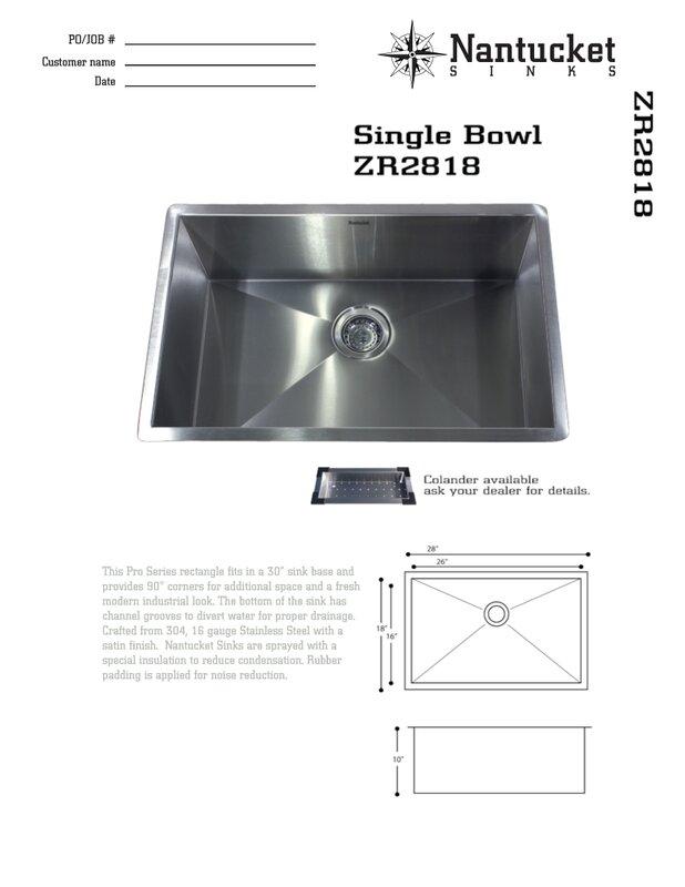 pro series 28   x 18   undermount kitchen sink nantucket sinks pro series 28   x 18   undermount kitchen sink      rh   wayfair com