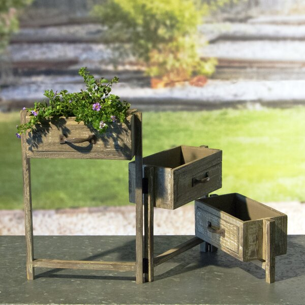 Oppenheimer 3-Tiered Folding Drawer Wood Vertical Garden by One Allium Way