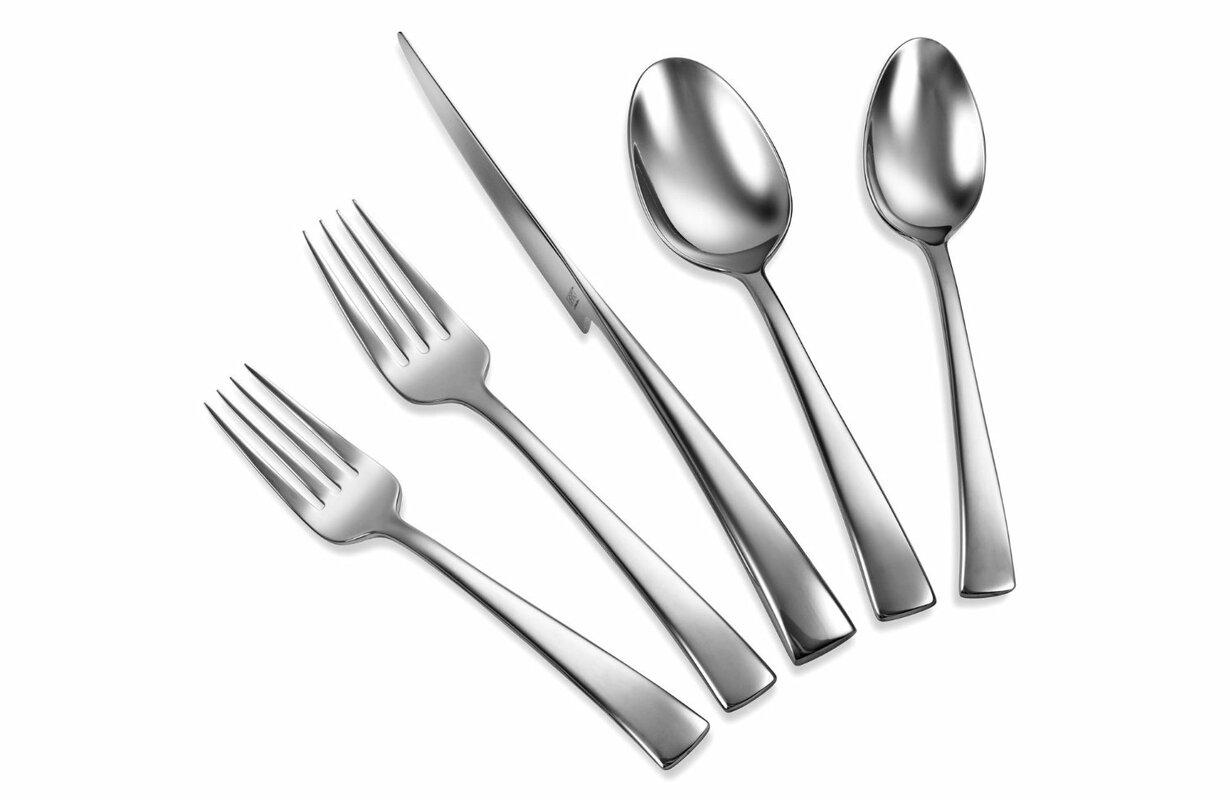 zwilling ja henckels bellasera 45 piece 18 10 stainless steel flatware set reviews wayfair. Black Bedroom Furniture Sets. Home Design Ideas