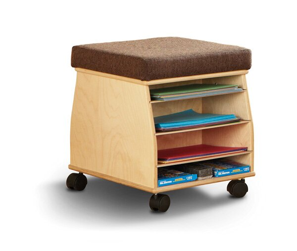 SideKick 4 Compartment Teaching Cart with Casters by Jonti-Craft