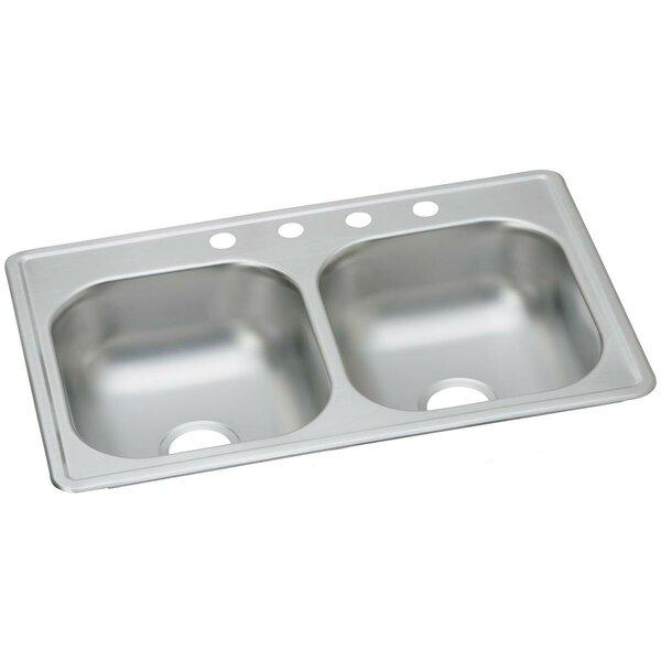 Dayton 33 L x 19 W Double Basin Drop-In Kitchen Sink by Elkay