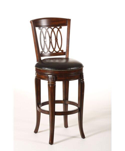 Montello Wood Swivel Stool in Dark Tobacco by Hillsdale Furniture