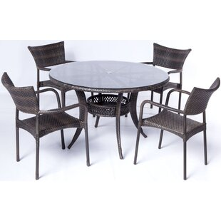 Melitta 5 Piece Dining Set By Brayden Studio