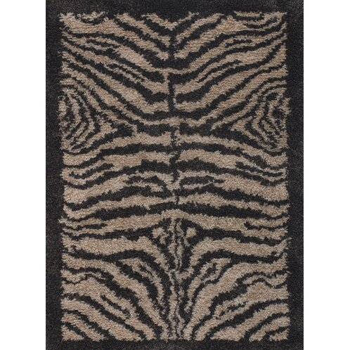 Vanetta Wool Black / Gray Area Rug by Bloomsbury Market