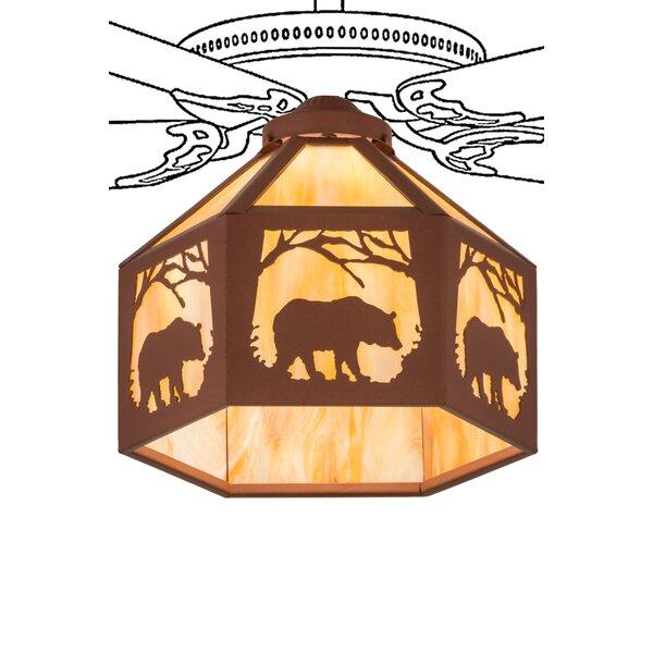 Lone Bear 1-Light Bowl Ceiling Fan Light Kit by Loon Peak