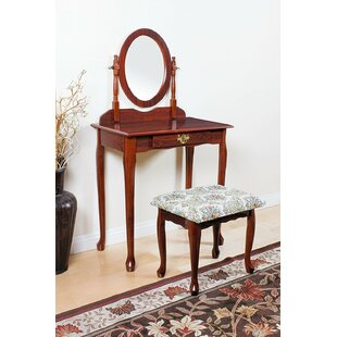 Lampley Casual Vanity Set with Mirror by Alcott Hill