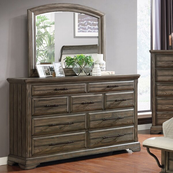 Yancy 9 Drawer Dresser with Mirror by Loon Peak