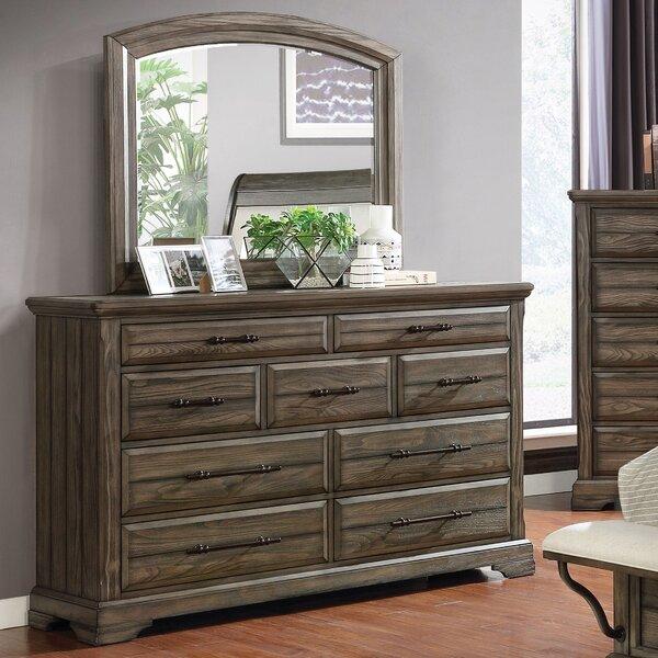 Yancy 9 Drawer Dresser with Mirror by Loon Peak