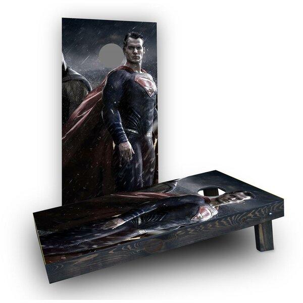 Realistic Superman Cornhole Boards (Set of 2) by Custom Cornhole Boards