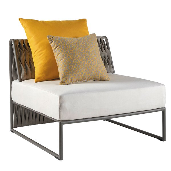 Partlow Patio Chair with Cushions by Bungalow Rose