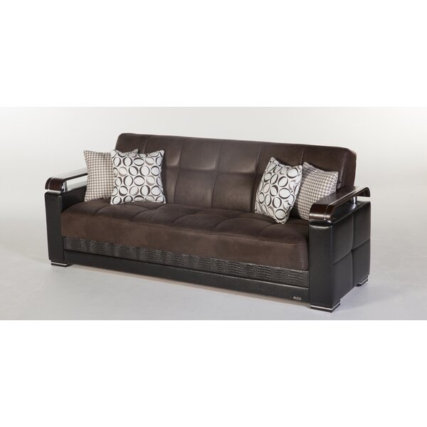 Safah 88.6'' Square Arm Sofa Bed By Wrought Studio™