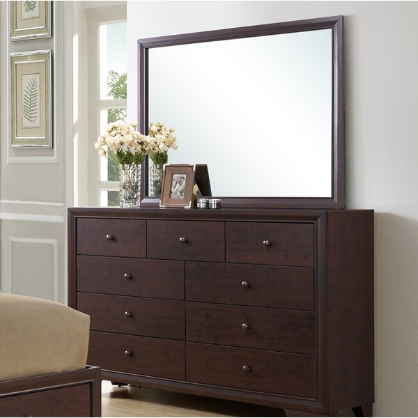 #1 Angarano 9 Drawer Double Dresser With Mirror By Alcott Hill 2019 Online