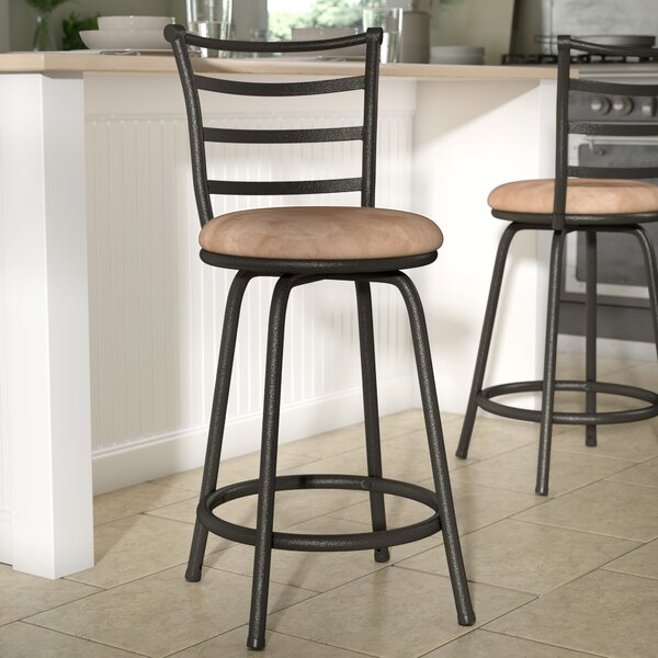 Deandre Adjustable Height Swivel Bar Stool by Zipcode Design