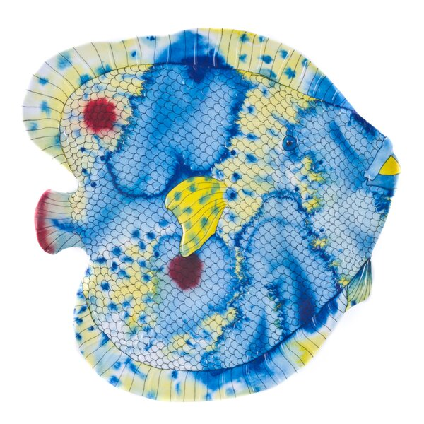 Swimmingly Melamine Fish Platter by Encore Concepts